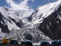 Lenin Peak.  Lenin glacier