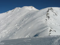 Lenin Peak.  The view from camp 3 at 6000 metres