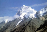 Mount Crown 7265 m. and Dezhi Peak